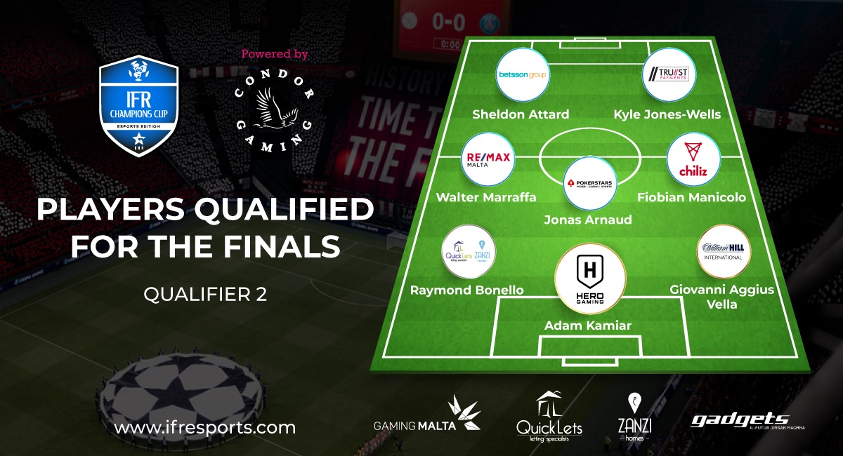 Players Qualified for the Finals - Qualifier 2