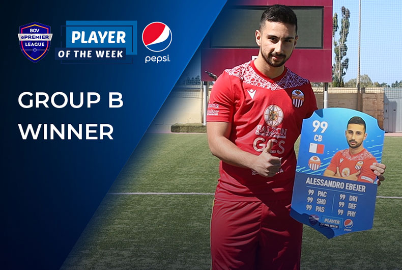 Group B Pepsi Player of the Week - Alessandro Ebejer