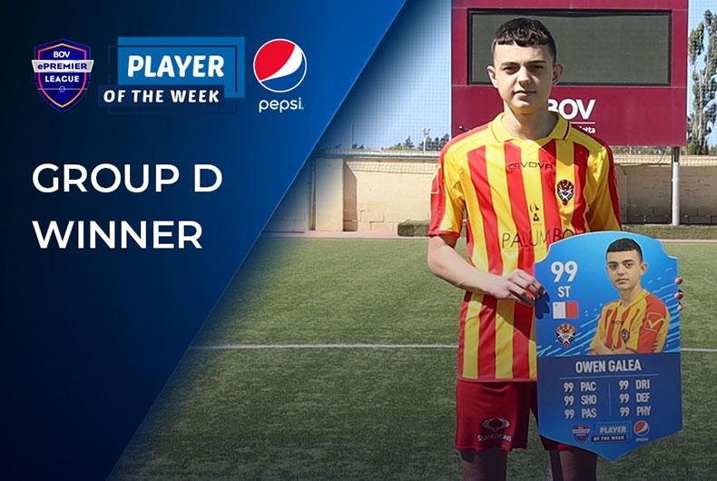 Group D Pepsi Player of the Week - Owen Galea